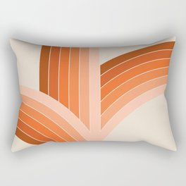 Red Rock Bounce Rectangular Pillow