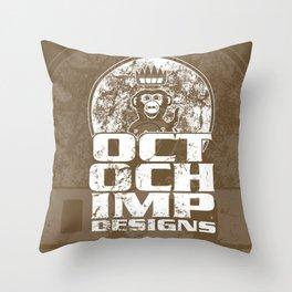 Octochimp Designs Throw Pillow