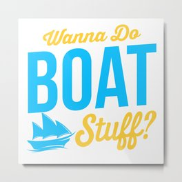 Boat Stuff Metal Print