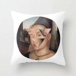 Puzzle face Throw Pillow