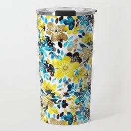 Happy Yellow Flower Collage Travel Mug