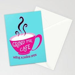 Grind Me Cafe - Blue Stationery Cards