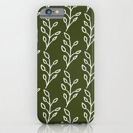 Feeling of lightness Pattern- Pine needle green iPhone Case