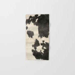Black & White Cow Hide Hand & Bath Towel