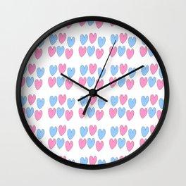 hearts 3-heart,love,romantism,girl,sweet,women,romantic,cute,beauty Wall Clock