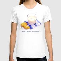 cookies T-shirts featuring Milk & Cookies by Nancy L. Hoffmann