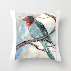 Red Faced Warbler Throw Pillow