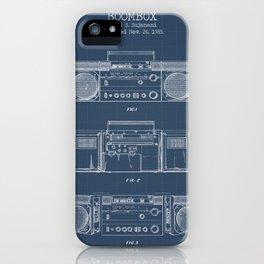 Boombox blueprints iPhone Case