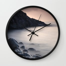 Serenity Ocean At Sunrise. Santiago Beach. La Gomera Island Wall Clock