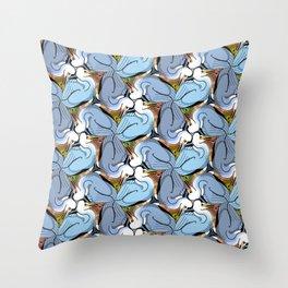 Great Blue Heron Tessellation (smaller units) Throw Pillow