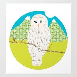 Blanche chouette Art Print