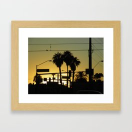 While the Sun Sets  Framed Art Print