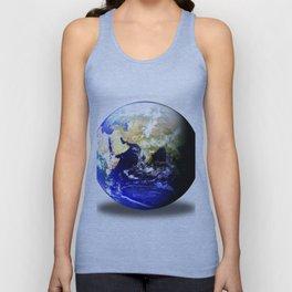 Earth Globe East Shadow Unisex Tank Top