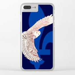 La fête des patriotes, le harfang des neiges. Clear iPhone Case