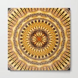 Solar Expansion Mandala Metal Print