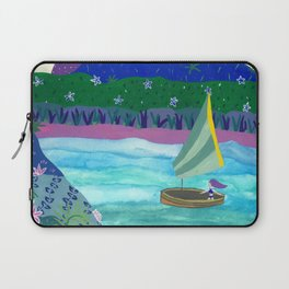 Sailing by Tropical Islands Laptop Sleeve