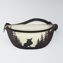 Red Forest Fox Fanny Pack