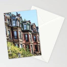 Boston Row Houses Stationery Cards