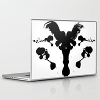 rorschach Laptop & iPad Skins featuring Rorschach Test by Ruth Chapa