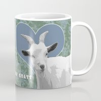 totes Mugs featuring Totes Ma Goats - Green Wallpaper by BACK to THE ROOTS