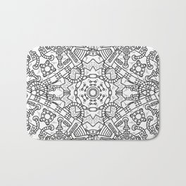 Steampunk seamless pattern with industrial technical Bath Mat
