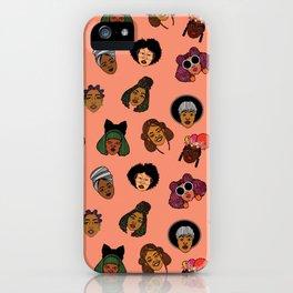 Black Hair Magic (Coral) iPhone Case