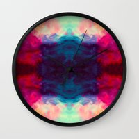 reassurance Wall Clocks featuring Reassurance Rorschach  by Caleb Troy