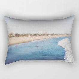 Beach Day at Santa Monica Rectangular Pillow