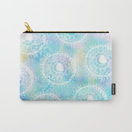 Watercolor Moon Mandala Carry-All Pouch