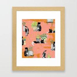 Cats & Plants #society6artprint ##cats #decor Framed Art Print