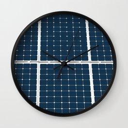 Image of solar power panel Wall Clock