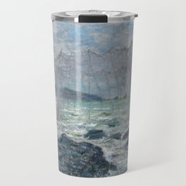 Fishing Nets at Pourville by Claude Monet Travel Mug