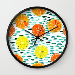 Citrus Lily (white) Wall Clock