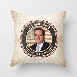 Conservative Ted Cruz Throw Pillow