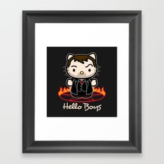 Hello Boys Framed Art Print