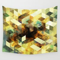 oil Wall Tapestries featuring Oil cubes by Tony Vazquez