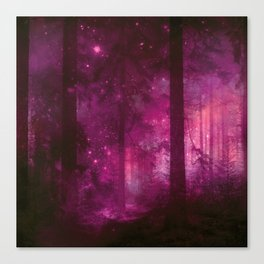 Into The Purpur Light Canvas Print