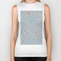 crystals Biker Tanks featuring Crystals Pattern by pakowacz