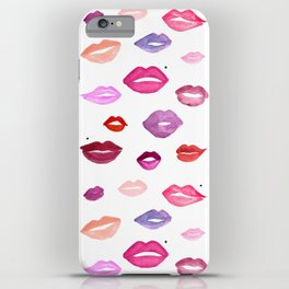 Watercolor Lips iPhone Case