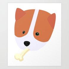 Corgi to Benny Art Print