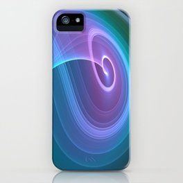 Spiral of Light in Blue iPhone Case