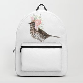 Boho Chic wild bird With Flower Crown Backpack