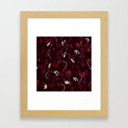 Leaves Snake Rosen Garden Framed Art Print
