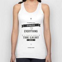 motivational Tank Tops featuring Leonard Cohen, Motivational Quote by Spyros Athanassopoulos