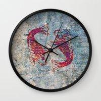 koi Wall Clocks featuring Koi by Vitta