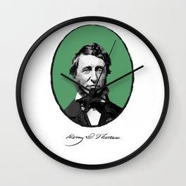 Authors - Henry David Thoreau Wall Clock