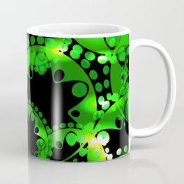 Green luminous lace from circles and balls. Coffee Mug