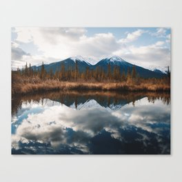 Vermillion Lakes II Canvas Print