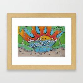 Sunny Peak Print Framed Art Print