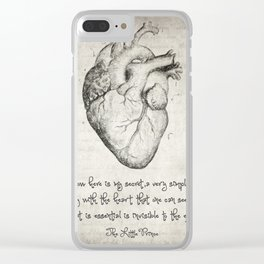 The Little Prince Quote Clear iPhone Case